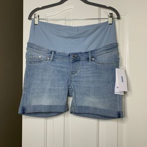 NWT H&M Maternity Jean Shorts 8 Size Stretchy Blue
